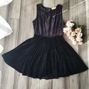 Altar'd State Black lace and velvet Holiday Dress